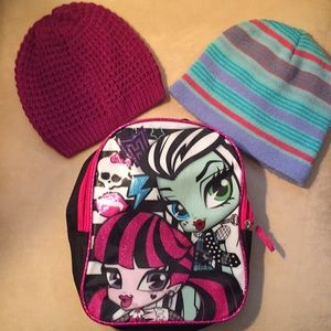 Back pack/ hat bundle